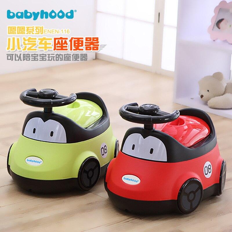 Babyhood Toilet For Kids Cute Cartoon Car Chamber Pot Baby Toilet Extra-large Zuo Bian Deng