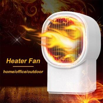 Portable Heater Fan Mini Electric Heater Home Handy Air Warmer Silent Office Desktop Heater Fan mini handy space heater portable wall convector stove hand air warm electric hot blower home fan office heater 1000w
