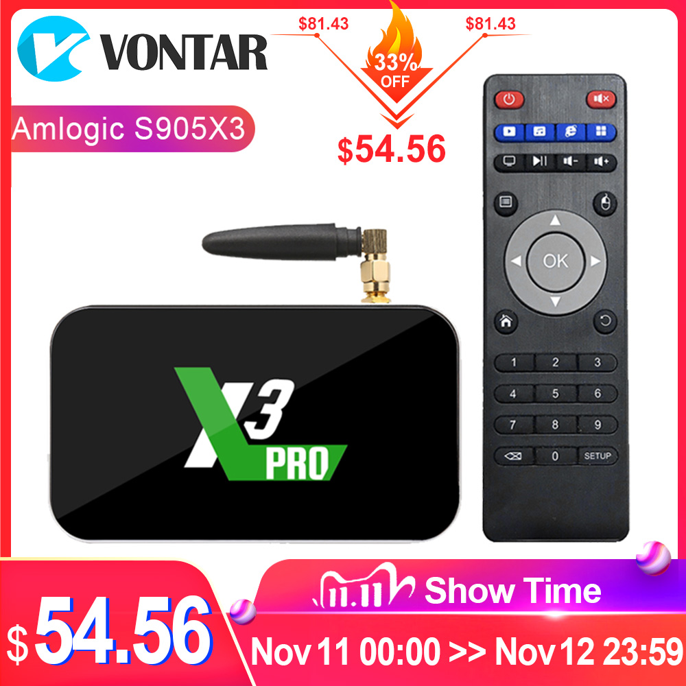2020 Ugoos X3 PRO TV Box Android 9.0 4GB RAM 32GB X3 Plus 64GB DDR4 Amlogic S905X3 WiFi 1000M 4K X3 Cube 2GB 16GB Set Top TVBox