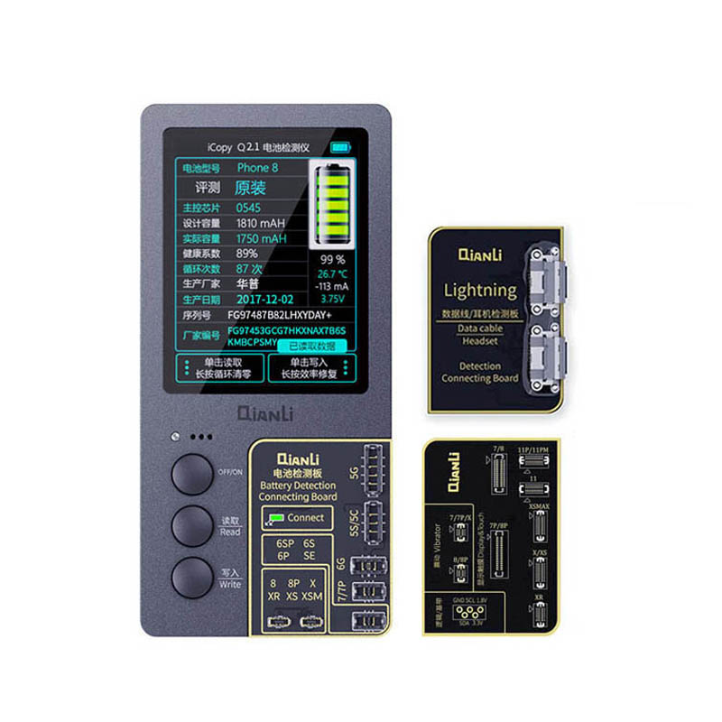 Qianli iCopy artı LCD ekran orijinal renk onarım programcı telefon 11 Pro Max XR XSMAX XS 8P 8 7P 7 titreşim/dokunmatik tamir