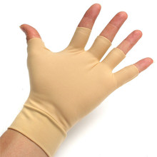 Guantes de compresión para el cuerpo, lavables, Nude, para aliviar la artritis, Fitness, masaje, nailon, Spandex, antiinflamatorios, 1 par
