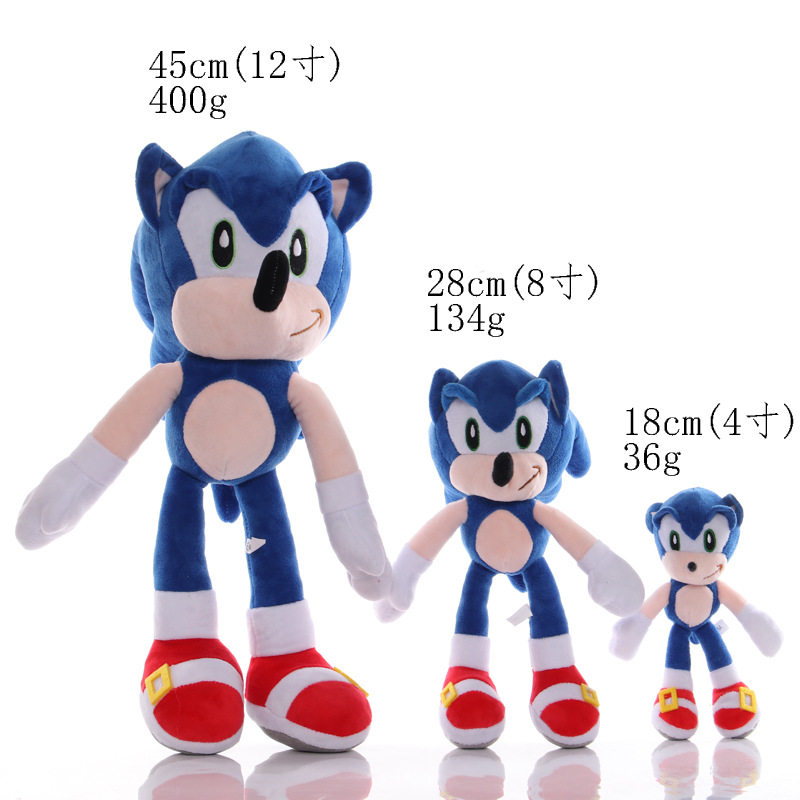 Ohmetoy Super Sonic The Hedgehog Plush Toy Game Figure Doll Birthday Gift For Kids 18 45cm Movies Tv Aliexpress