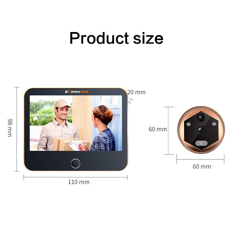 Купить с кэшбэком Wireless Wifi Video Intercom Doorbell Video Door Peephole Viewer Door Bell Home Security WIFI Doorbell Camera Motion Detection