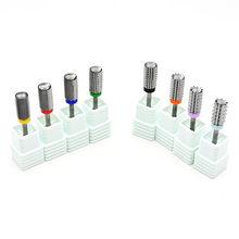 5 in 1 karbür çok fonksiyonlu tırnak matkap B 3/32 2-Way Nail karbür Bit-ekstra ince 4 X kaba elektrikli matkap makinesi (gümüş)