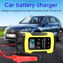Cargador de batería automático para coche, 12V, 6A, carga de energía por pulsos, pantalla LCD Digital para cargador de batería de plomo y ácido en seco y húmedo