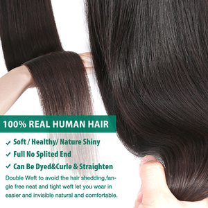 Image 4 - RosaBeauty 28 30 32 40 Inch Natural Color Brazilian Hair Weave 1 3 4 Bundles Straight 100% Remy Human Hair Extensions Weft deals