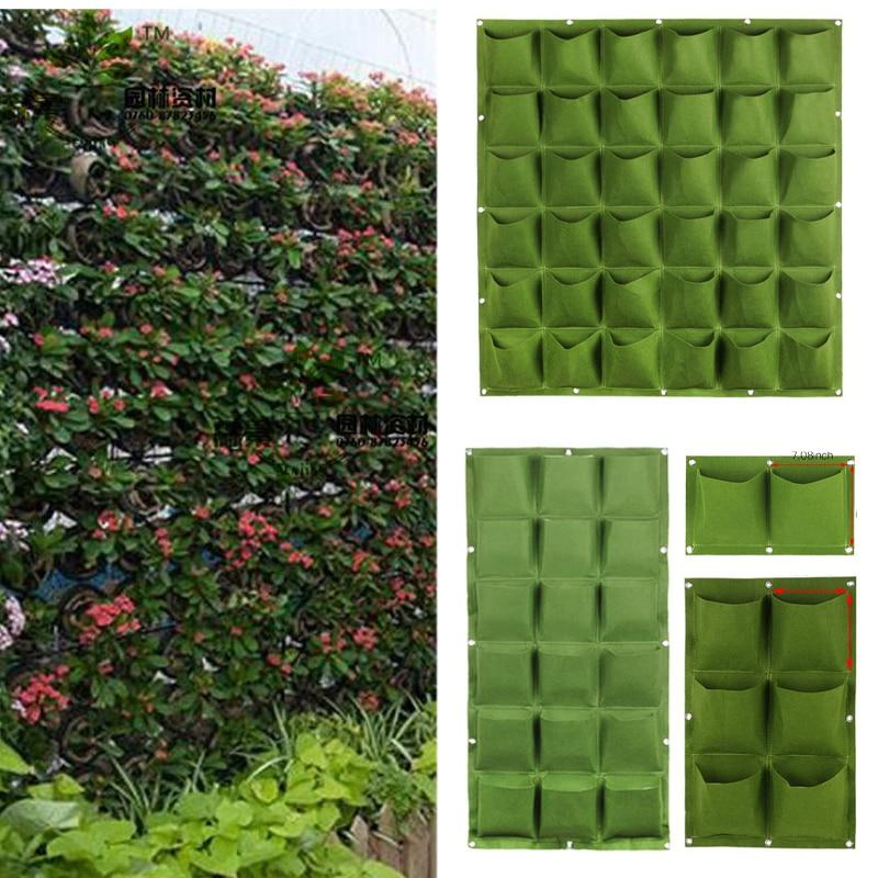 Wall Seedling Grow Bags Pocket Vertical Garden Planting Hanging Home Tools Fabric Seedsplants Vegetable Jardin Growing Pots