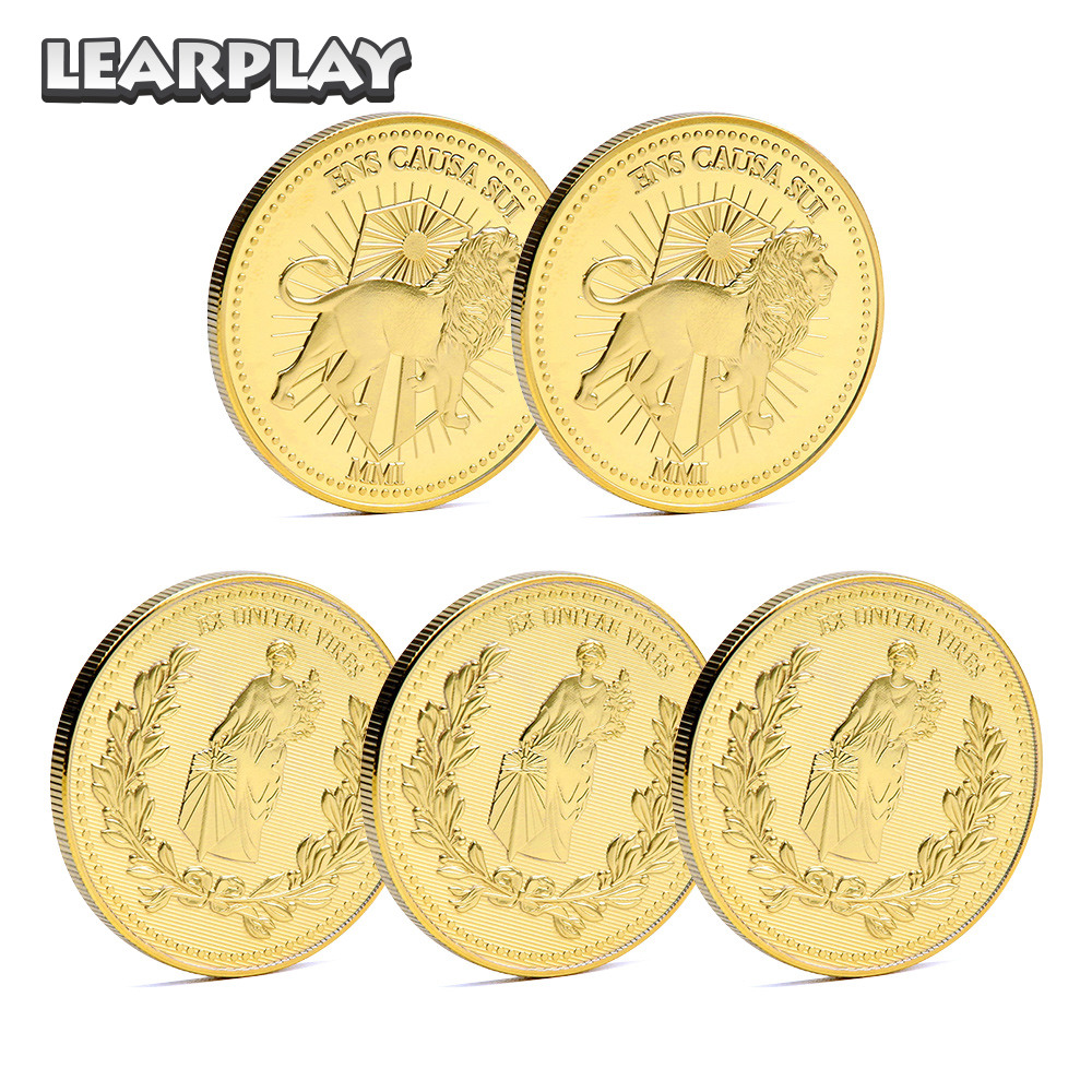 John Wick Golden Metal Coin Zinc Alloy Collection Continental Hotel Cosplay Props Blood Oath Marker Carnival Party Accessories