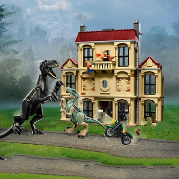 Bela 10928 Jurassic World 2 movie Series Indoraptor Rampage At Lockwood Estate Building Blocks Bricks Kids Toys Christmas gift