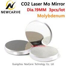 Espelho do molibdênio da alta-transmissão do espelho do laser do co2 do diâmetro 19mm mo para a máquina de gravura do laser do co2 newcarve
