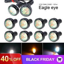10 шт. 23 мм 12 В 12 Светодиодный светильник с орлиным глазом, высокая мощность, 4014, двухцветная Автомобильная противотуманная лампа DRL, сигнальная лампа заднего хода