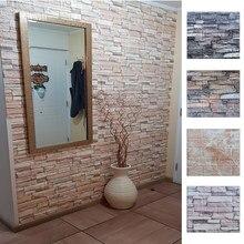 Autocollants muraux en mousse 3D, panneaux de papier peint auto-adhésif, décor de maison, salon, chambre à coucher, décoration de maison, autocollant mural en brique de salle de bains