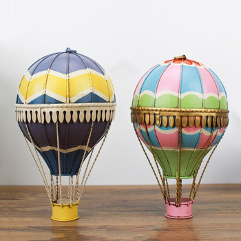 Aqumotic żelazny gorący balon dmuchany żelazo Retro Model europa wiszący urok dekoracje artystyczne kolorowe balony z indyka tanie i dobre opinie CN (pochodzenie) Flower Metal
