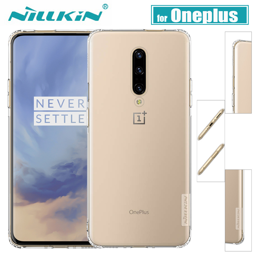 OnePlus 7 Pro Case Nillkin Soft TPU Silikon Full Cover Pouzdro pro Oneplus 6T Clear Transparent Funda Case na One Plus 5T / 5 Capa