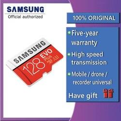 سامسونج EVO زائد مايكرو SD بطاقة 64GB 32GB 16GB 256GB Class10 MicroSDSDXC UHS-I 80 برميل/الثانية SDHC TF بطاقة 64GB 128GB + SD محول 256g