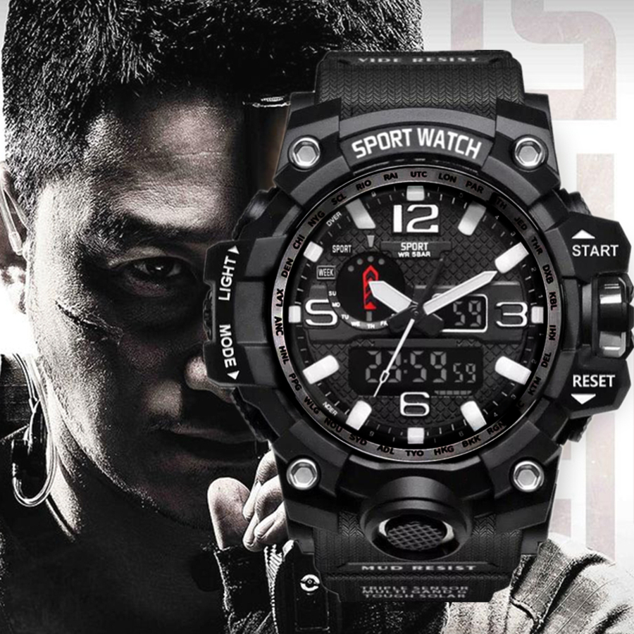 New Explosion Watch Electronic Men's Waterproof Fashion Multi-functional Sports Watch Factory Wholesale Gift Reloj Mujer Digital