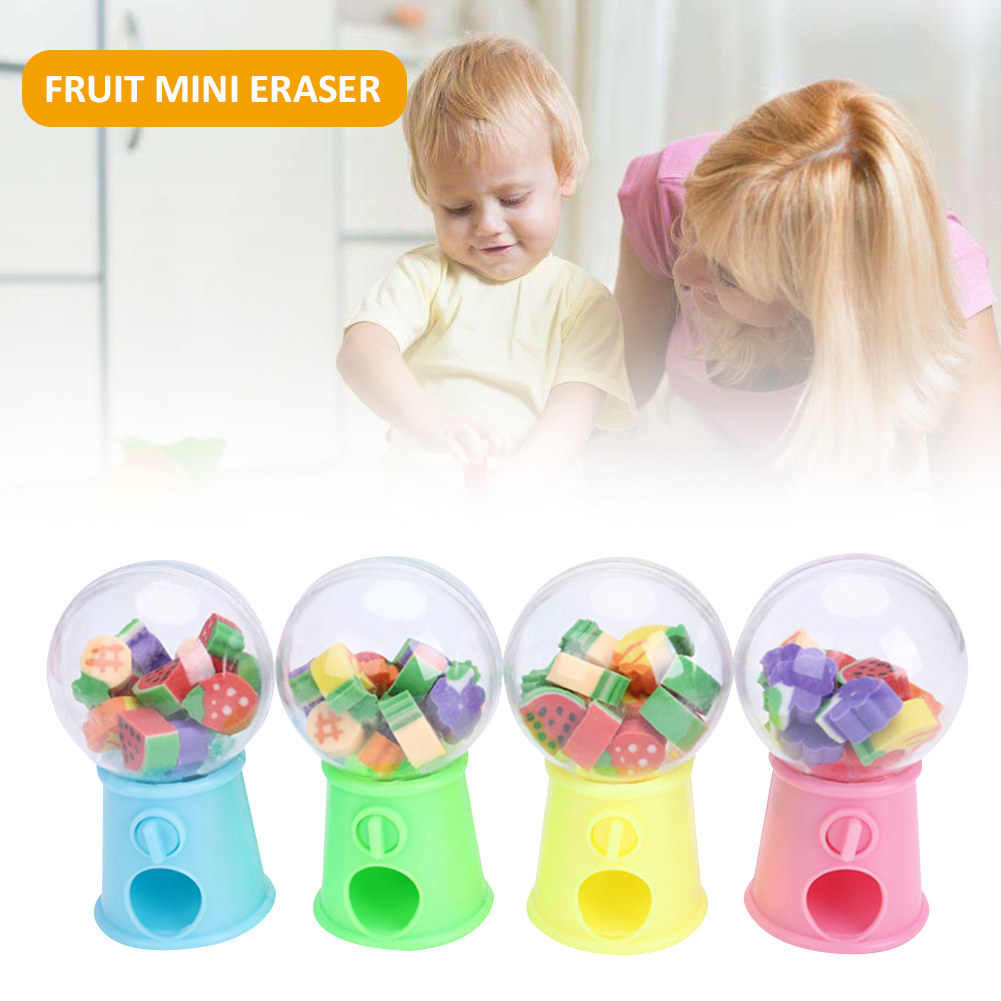 Fruit Mini Eraser Children Kawaii Stationery Innovative Cute Twisted Egg Toy Papelaria School Office Correction Supplies For Kid