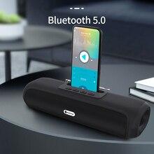 Soundbar portable bluetooth speakers outdoor Wireless waterproof with mobile phone bracket subwoofer car TF FM radio caixade som