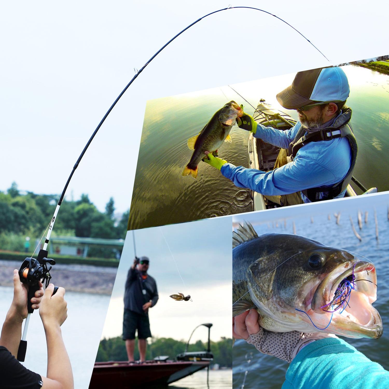 Sougayilang 1.75m canne à pêche Combo 3 Sections canne à pêche en carbone avec 12 + 1BB Baitcasting moulinet ensemble de matériel de pêche Kit Pesca - 6