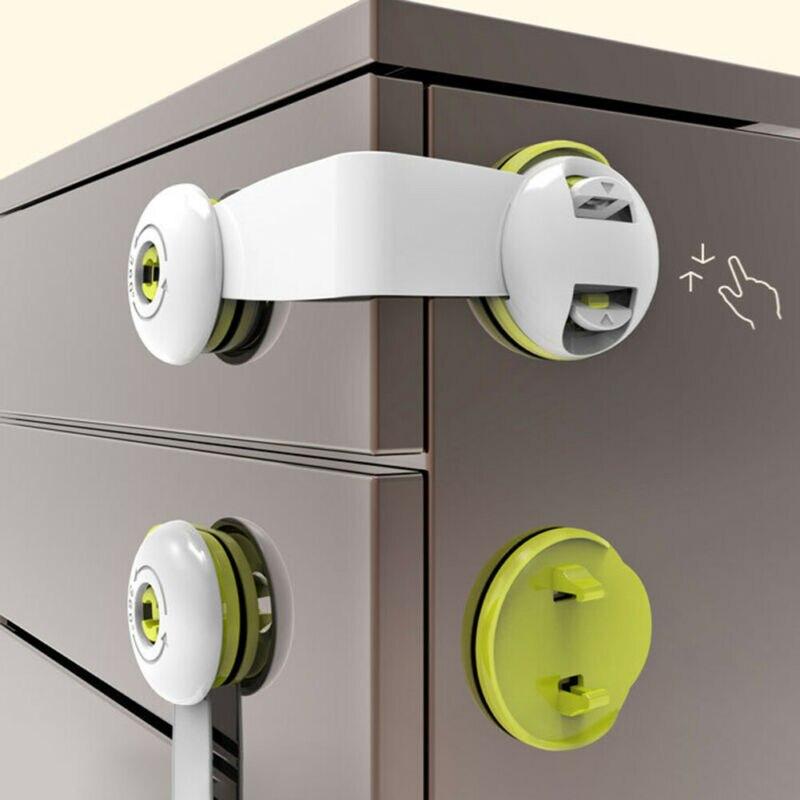 Baby Safety Lock Latch For Drawer Kitchen Cupboard Machine Fridge Toilet