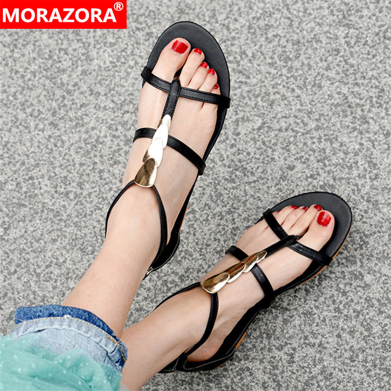 Womens Sandals New Sweet Buckle Rhinestone Womens Shoes Plus Size 33-50,1,17