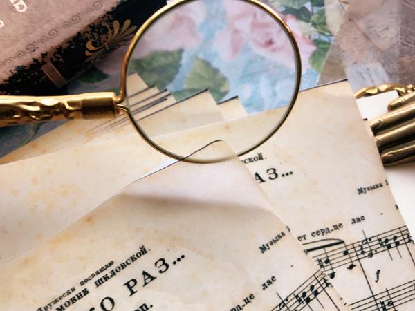 3pcs A5 Vintage Musik Buch Seite Vellum Paper Stickers Scrapbooking DIY Bastel