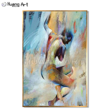 Aritist Hand Painted Large 2 Panel Acrylic Painting Abstract Man Woman Figure Oil Paintings On Canvas Modern Figure Oil Painting Buy At The Price Of 25 00 In Aliexpress Com Imall Com
