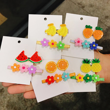 Lovely girl heart fruit petal hairpin small fresh candy color gift wholesale personality creative jewelry