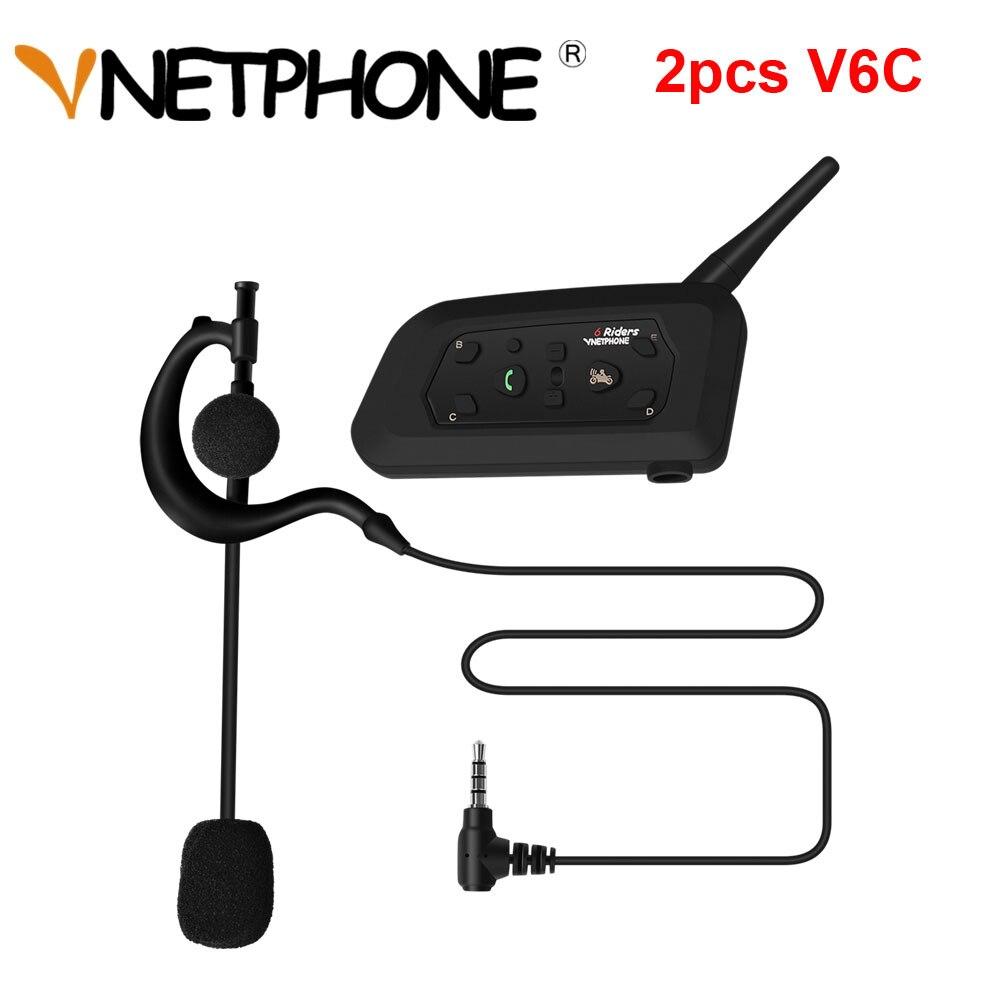 2pcs Vnetphone Professional Football Referee Intercom Full Duplex 1200m V6c Referees Headset Wireless Intercom Interphone