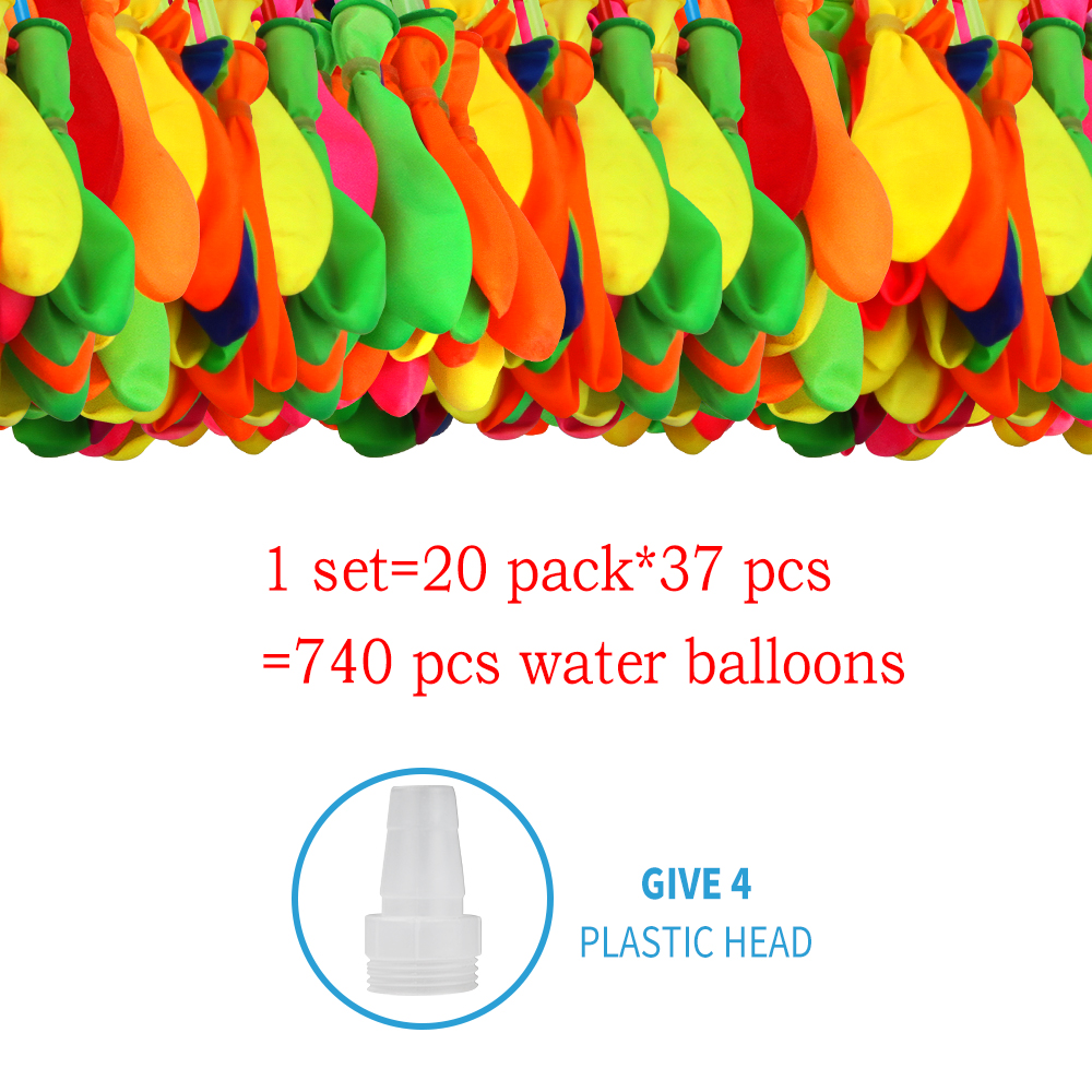 740 Pcs Water Balloons Bomb Refill Kits Summer Water Balloons Toys For Kids Adults Outdoor Water Bomb Party Games
