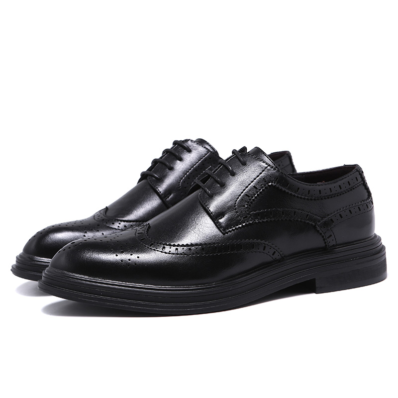 US $27.81 50% OFF|Men's Oxford Classic Wingtip Brogue Formal Dress Shoes for Mens Anti Odor Flat Oxfords Derby Shoes Gentlemen Gift Size 6~10 in