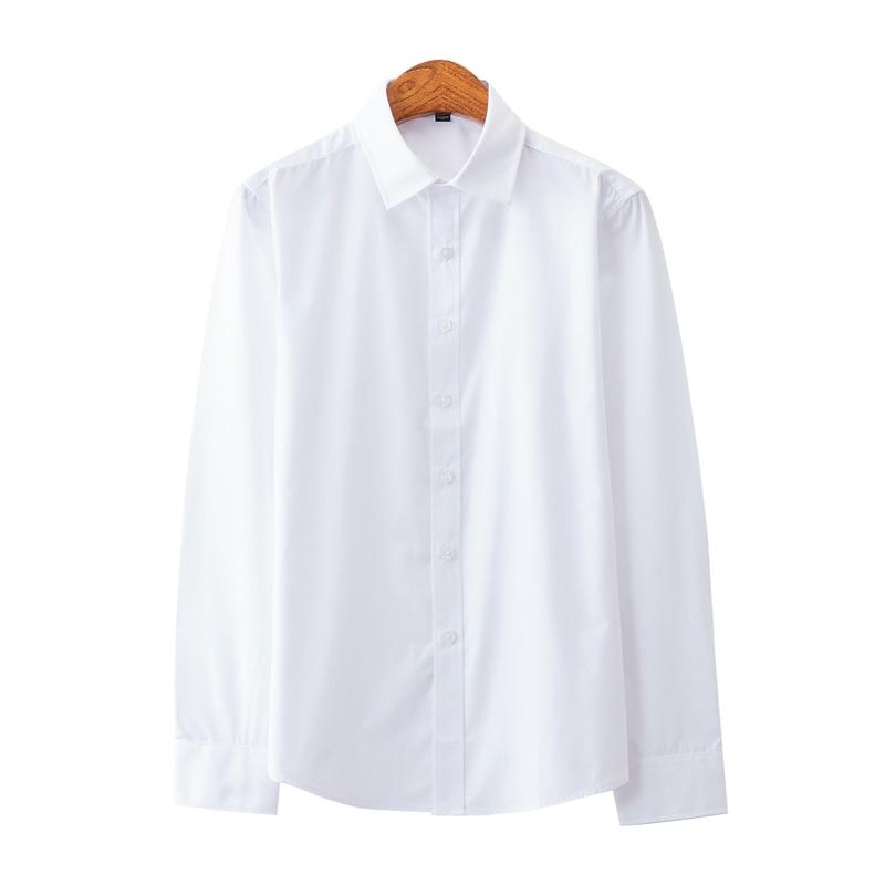 Men's Formal Shirt 2020 Office Men's Shirt Quality Pure Color Long Sleeve