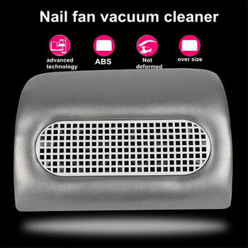 Leather Luxury Strong Power Nail Dust Vacuum Collector Salon Fan Art Salon Manicure Aids Suction Dust Collector Machine Cleaner