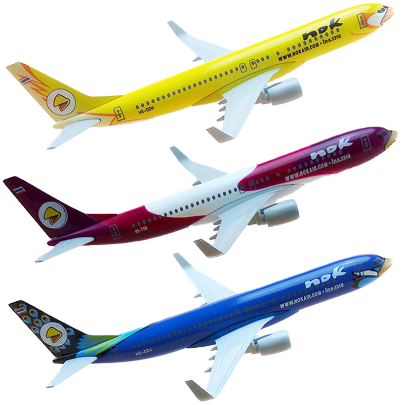 16cm 1:400 Scale Nok Air Thailand Thai Nok Boeing B737 Airlines Plane Model Metal Diecast Model Airplanes Aircraft Collection