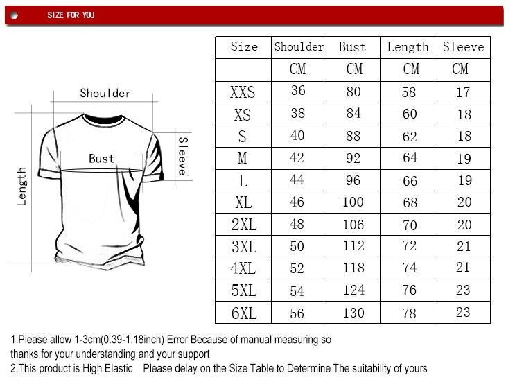 T恤XXS-6XL