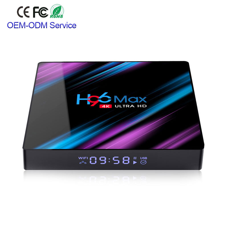 H96 <font><b>MAX</b></font> TV Box Android 9.0 Rockchip RK3318 4G <font><b>32</b></font> GB 64 GB USB3.0 H.265 <font><b>4</b></font> K Youtube Netflix google Play pk <font><b>x96</b></font> mini Smart TV Box image