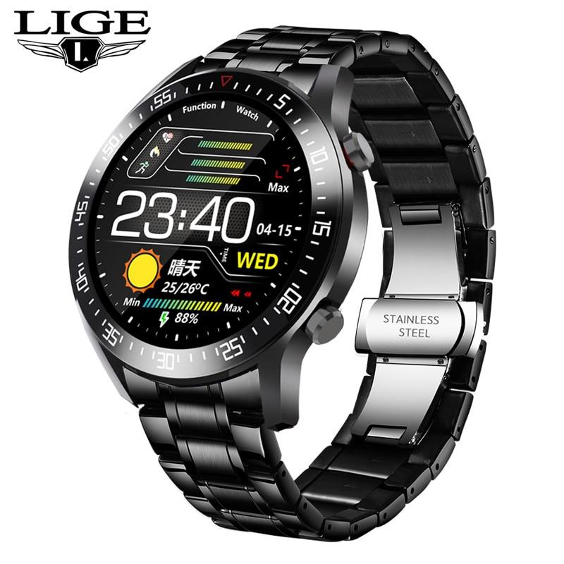 2020 New Steel Band Digital Watch Men Sport Watches Electronic LED Male Wrist Watch For Men Clock Waterproof Bluetooth Hour+box 12