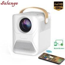 Светодиодный проектор Salange P56 1080P Full HD Wifi Proyector Video Projetor Movie Home Theater совместим с Fire TV, ноутбуками, ПК, PS4