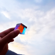Crystal Cube Light-Prism Photo-Ornaments Optical-Glass Rectangle Gift Seven-Color Valentine's-Day-Girlfriend