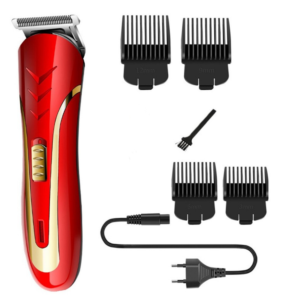 KEMEI Carbon Steel Head Hair Trimmer KM-1409 Rechargeable Electric Razor Men Beard Shaver Electric Hair Clipper EU Plug