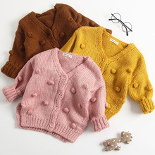 Baby Girl Jacket Knit Cardigan Fall Winter Handmade Bubble B