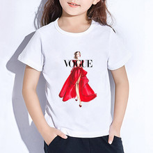 New Vogue Girl T Shirt Summer Baby Girls Tops Children Clothing Girl T-shirts Short Sleeve Casual T-shirts For Girls KT-2222 cheap Sincerity Create ModaL Fashion cartoon REGULAR O-Neck Fits true to size take your normal size Unisex white S-3XL 2-11 age