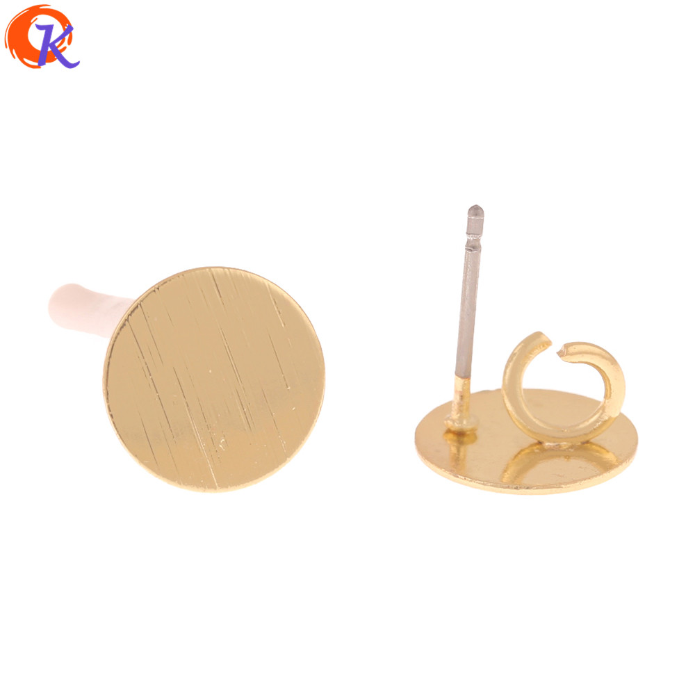 Cordial Design 100Pcs 10*10MM Jewelry Accessories/Earrings Stud/Round Coin Shape/Hand Made/DIY Jewelry Making/Earring Findings