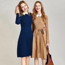 Новое поступление года; сезон осень-зима; однотонное платье трапециевидной формы до колена в стиле пэчворк; Q4393