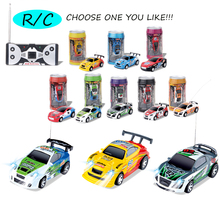 купить 8 Multicolor Selection 20KM/H Coke Can Mini RC Car Radio Remote Control Micro Racing Cars 4 Frequencie R/C Model Toy For Kids дешево