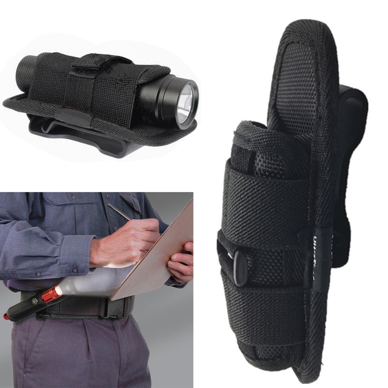 1PCs Tactical 360 Degrees Rotatable Flashlight Pouch Holster Torch Case For Belt Torch Cover Hunting Lighting Survival Kits