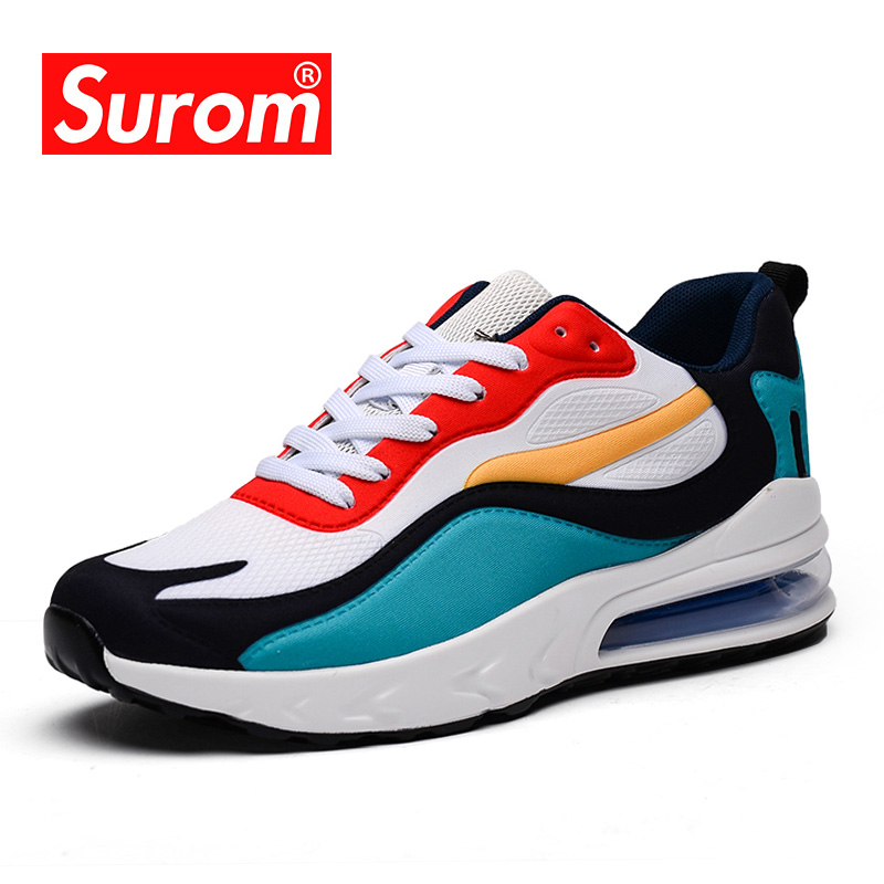 SUROM 2020 Spring New Fashion Women's Sneakers Luxury Brand Training Shoes Female Breathable Lace Up Lightweight Jogging Flats