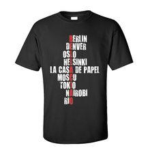 T-shirt col rond pour homme, haut classique, 100% coton, style urbain, Bella ciao la Casa de Papel