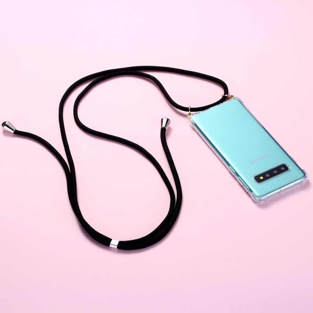 רצועת כבל שרשרת טלפון קלטת שרשרת שרוך נייד טלפון מקרה לנשיאה כדי לתלות לסמסונג S8 S9 S10 Note9 a50 A70 A7 A8 A9