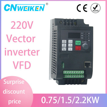 Single Phase to 3 Phase Motor Drive VFD Frequency Speed Controller AC220V 2.2KW converter